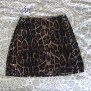 Cheetah Print Skirt